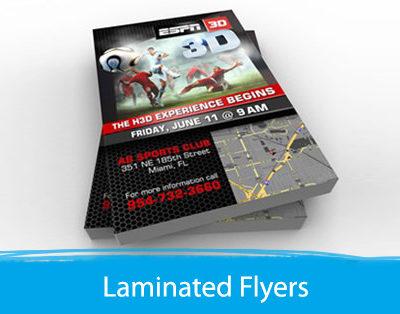 Premium Laminated Flyers