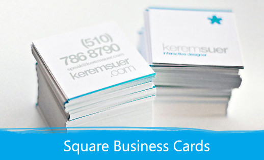 Square Business Cards Print Depot - Square business card template